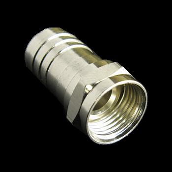 Разъем для коаксиального кабеля RG6 (Crimp) (100шт)