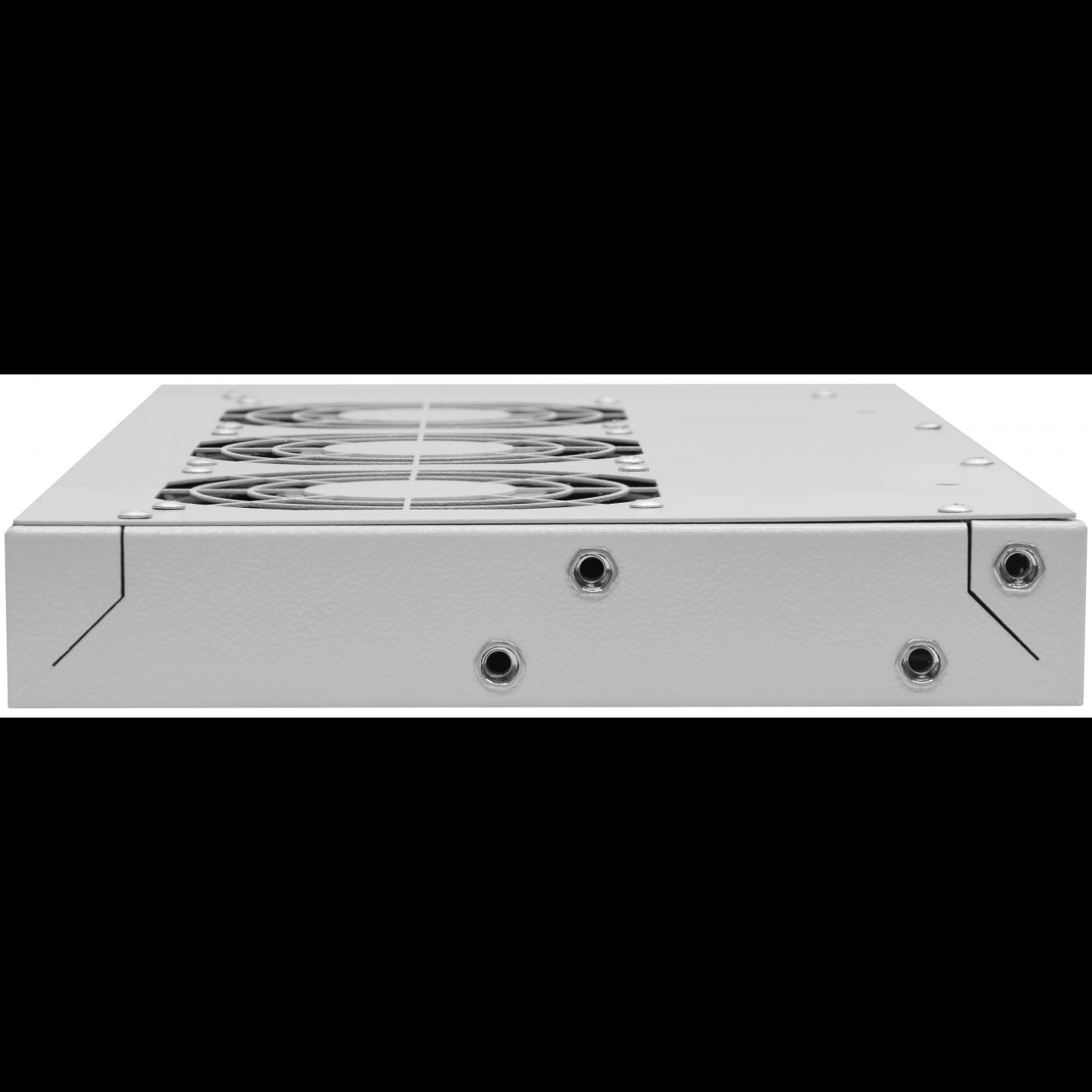 "Модуль вентиляторный 19"", 3 вентилятора, регулируемая глубина 230-415мм, без терморегулятора"