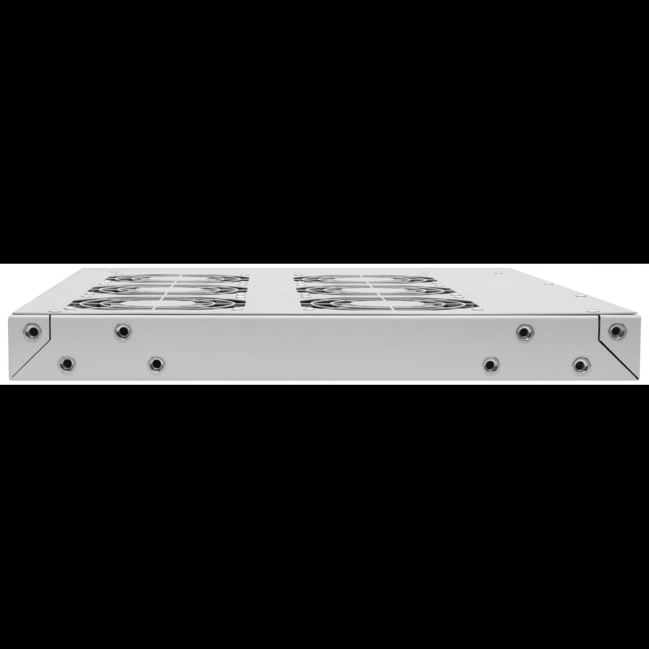 """Модуль вентиляторный 19"""", 6 вентиляторов, регулируемая глубина 460-830мм, с термостатом"""