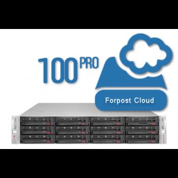 Сервер видеонаблюдения Forpost, на 100 камер (2Мб/с), 14 дней хранение