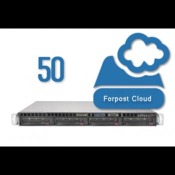 Сервер видеонаблюдения Forpost, на 50 камер (2Мб/с), 14 дней хранение