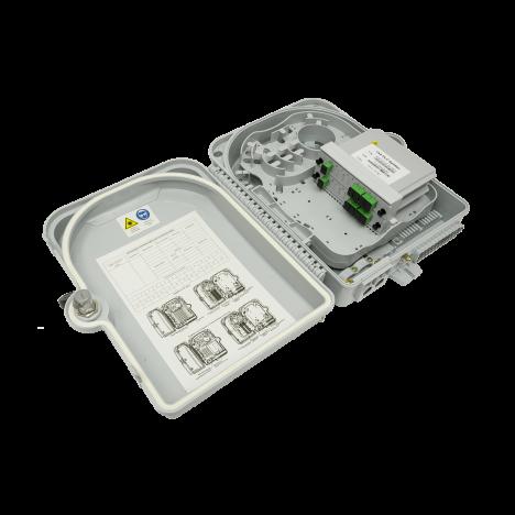 Коробка распределительная оптическая SNR-FTTH-FDB-24A (укомплектованная 2 делителями 1х4)