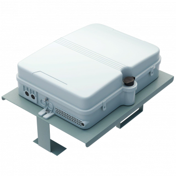 Кронштейн для крепления оптических коробок с местом для запаса кабеля