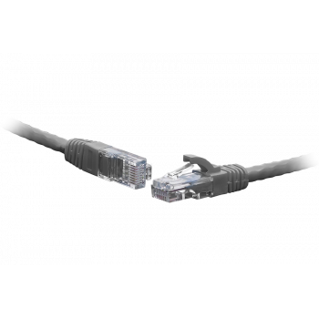 Коммутационный шнур F/UTP 4-х парный cat.5e 0.3м LSZH standart серый