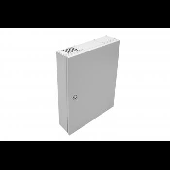 Универсальный настенный шкаф, накладной, 19'' крепление 2U, монтажная площадка, 4 рейки DIN 35 (54 места)