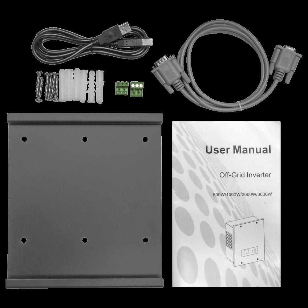 Инвертор для солнечных панелей 500Вт 12В