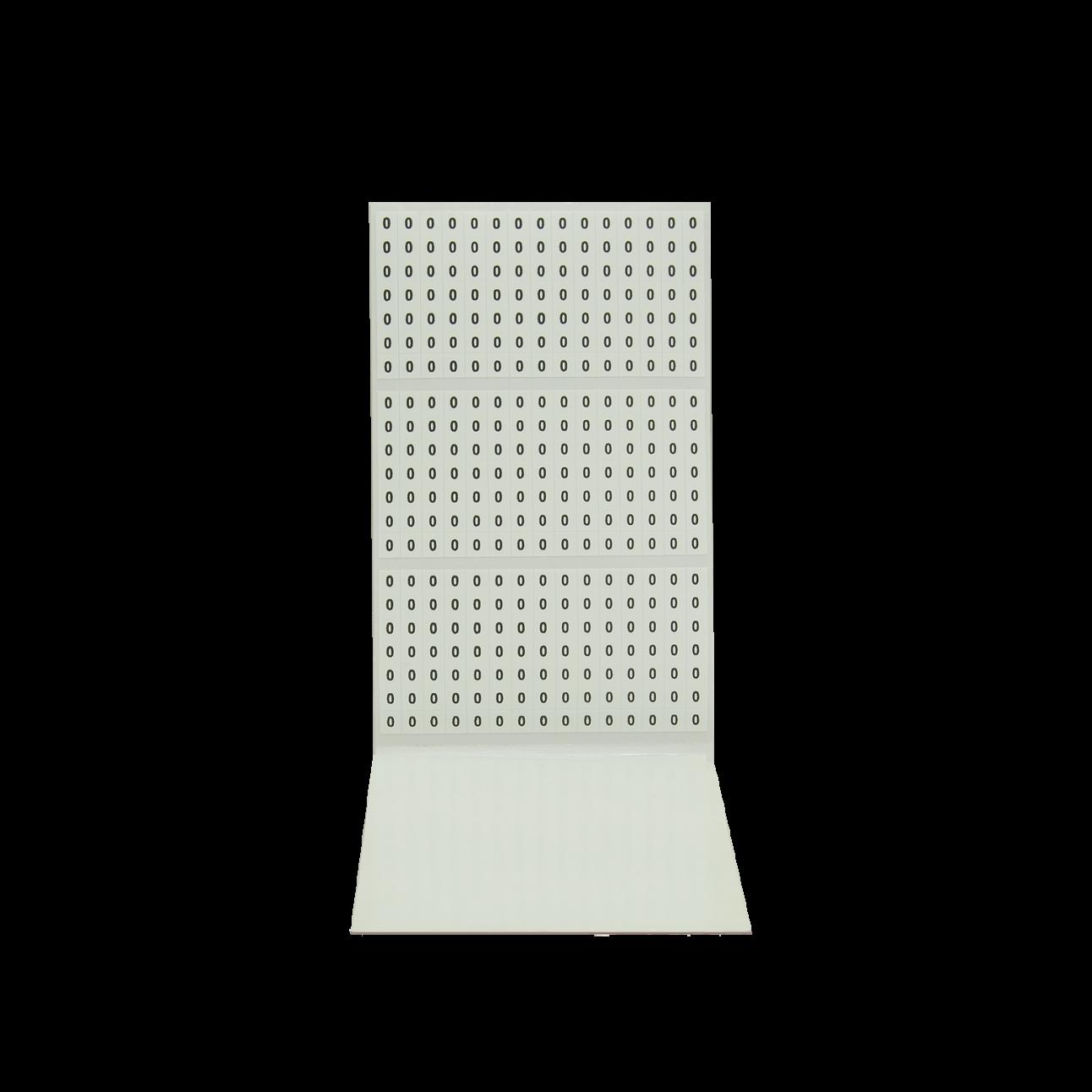 Самоклеющиеся маркеры, блокнот 10 листов, цифры от 0 до 9