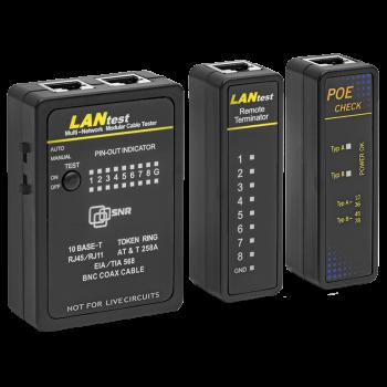 Сетевой тестер SNR-LP-01 с функцией PoE (кейс с трещиной)