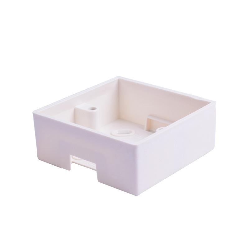 Монтажная коробка SNR, накладная, 86х86мм, белая