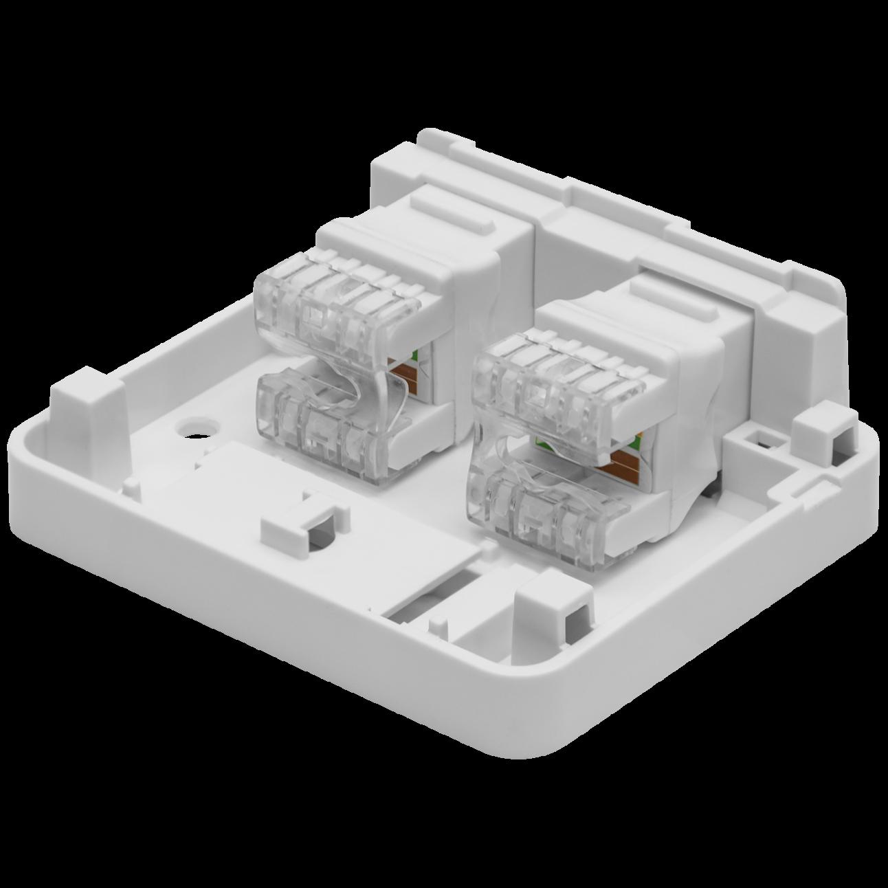 Корпус настенной розетки SNR под модули KeyStone, 2 порта
