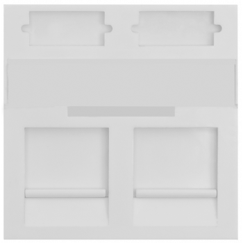 Вставка SNR под модули KeyStone, 2 порта, 45х45мм