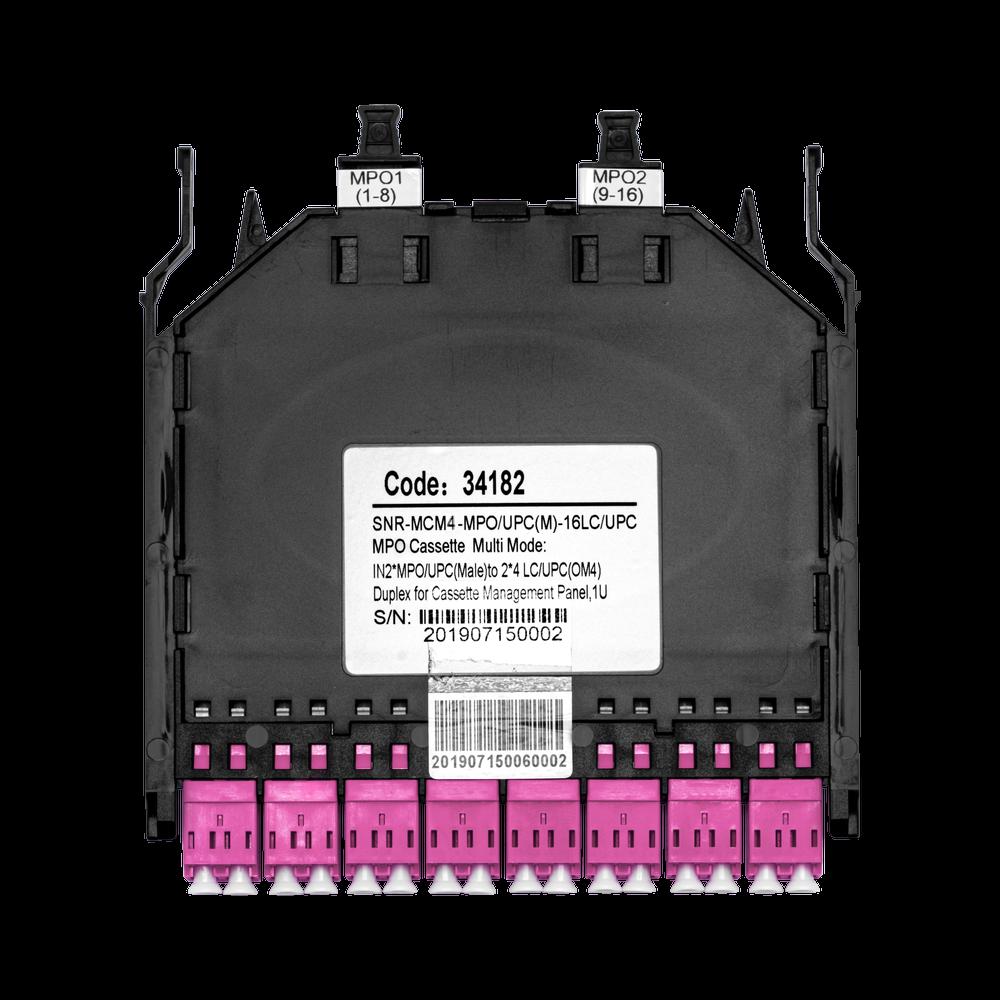 Кассета распределительная MPO/UPC на 16LC/UPC портов MM (OM4) для SNR-CMP-144P