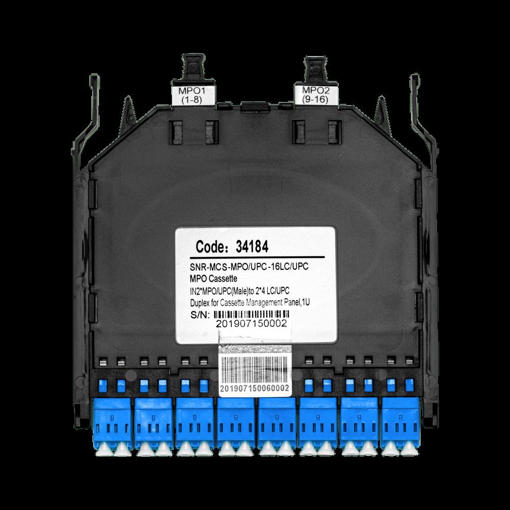 Кассета распределительная MPO/APC на 16LC/UPC портов SM для SNR-CMP-144P