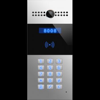 SIP видеодомофон SNR-MVDP1 с клавиатурой, считывателем карт, камерой, PoE 802.3af, 12V DC