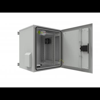 Шкаф уличный всепогодный 15U глубина 600мм (нагрев, охлаждение, контроль климата)