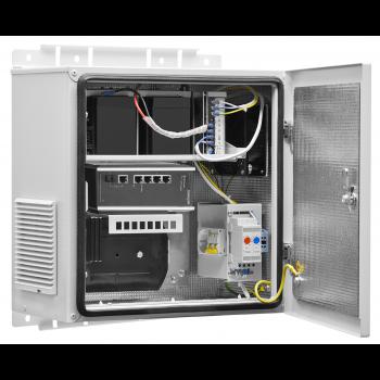 Настенный термошкаф 400x400x250 мм, IP54, с ИБП