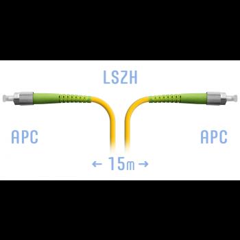 Патчкорд оптический FC/APC SM 15 метров