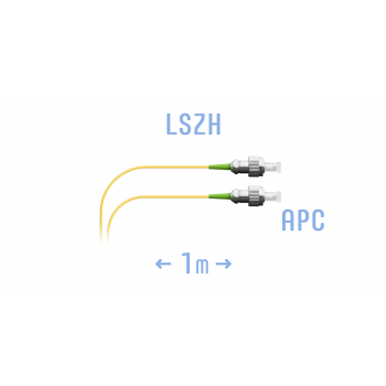 Шнур монтажный оптический FC/APC SM 1м, (0,9мм)