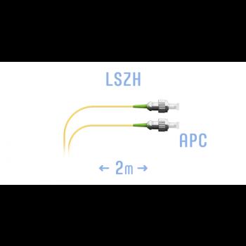 Шнур монтажный оптический FC/APC SM 2м, (0,9мм)