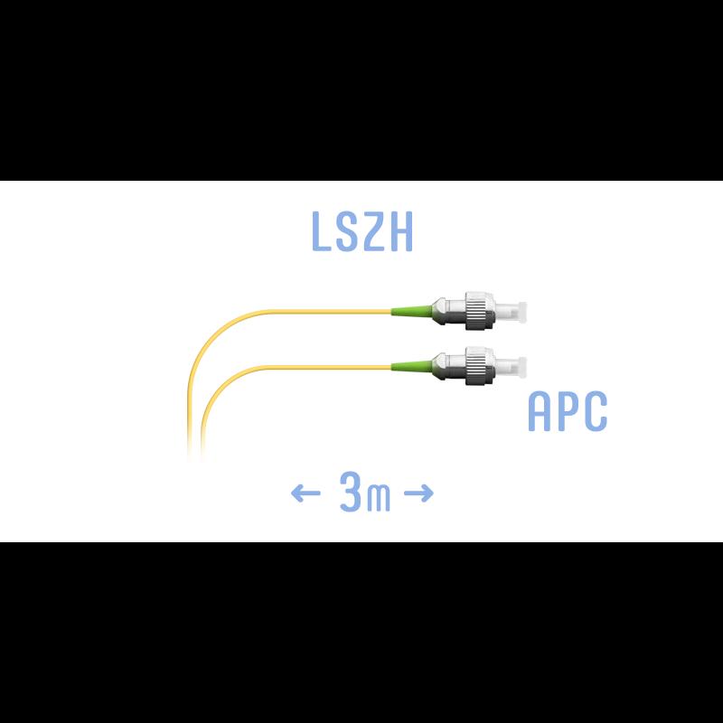 Шнур монтажный оптический FC/APC SM 3м, (0,9мм)