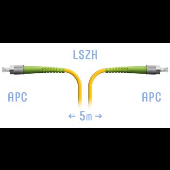 Патчкорд оптический FC/APC SM 5 метров