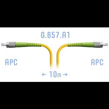 Патчкорд оптический FC/APC SM G.657.A1 10 метров
