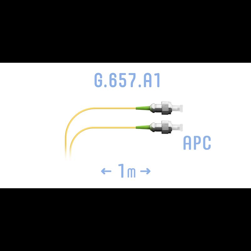 Шнур монтажный оптический FC/APC SM G.657.A1 1 метр