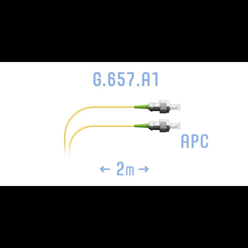 Шнур монтажный оптический FC/APC SM G.657.A1 2 метра