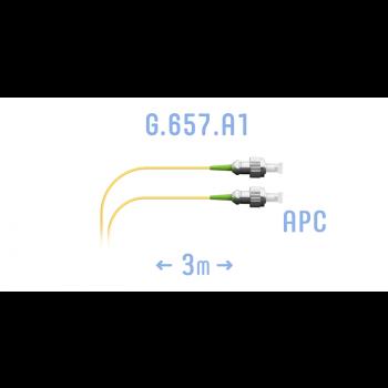 Шнур монтажный оптический FC/APC SM G.657.A1 3 метра