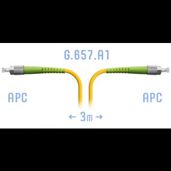 Патчкорд оптический FC/APC SM G.657.A1 3 метра