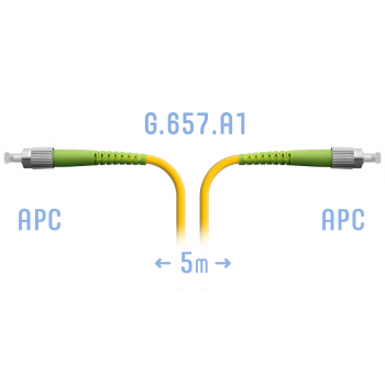 Патчкорд оптический FC/APC SM G.657.A1 5 метров
