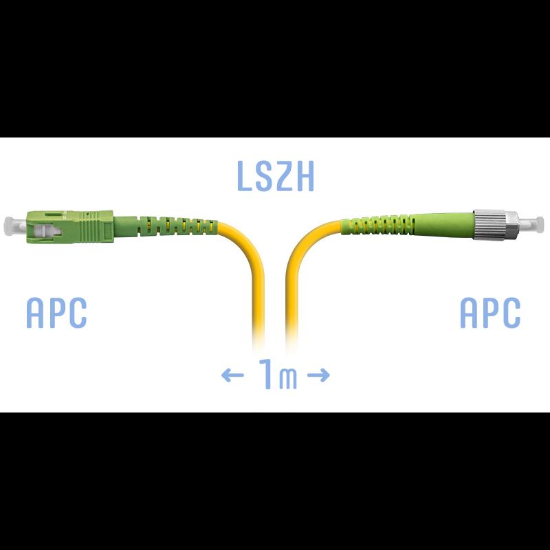 Патчкорд оптический FC/APC-SC/APC SM 1 метр