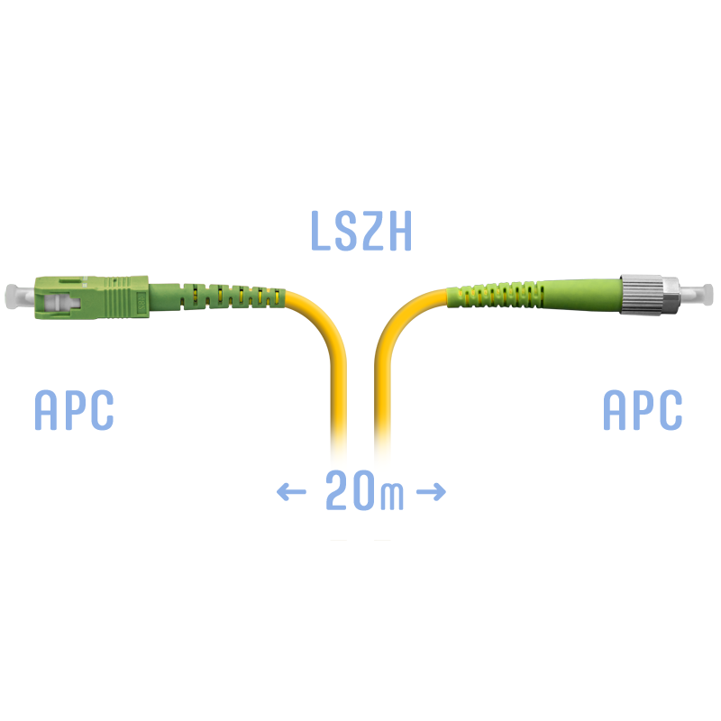Патчкорд оптический FC/APC-SC/APC SM 20 метров