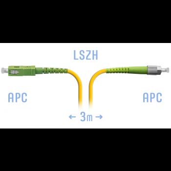 Патчкорд оптический FC/APC-SC/APC SM 3 метра