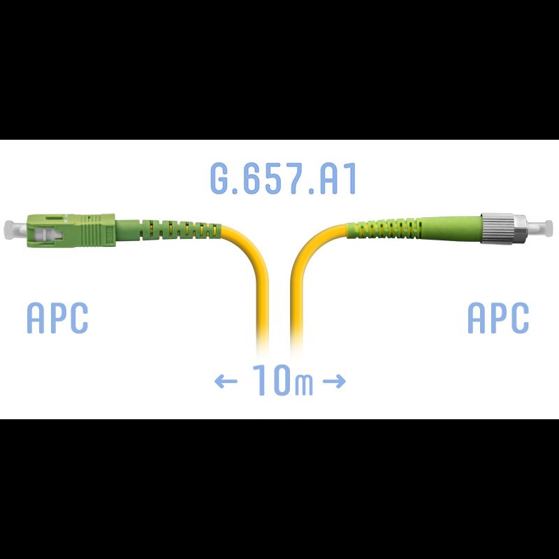 Патчкорд оптический FC/APC-SC/APC SM G.657.A1 10 метров
