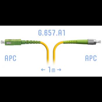 Патчкорд оптический FC/APC-SC/APC SM G.657.A1 1 метр