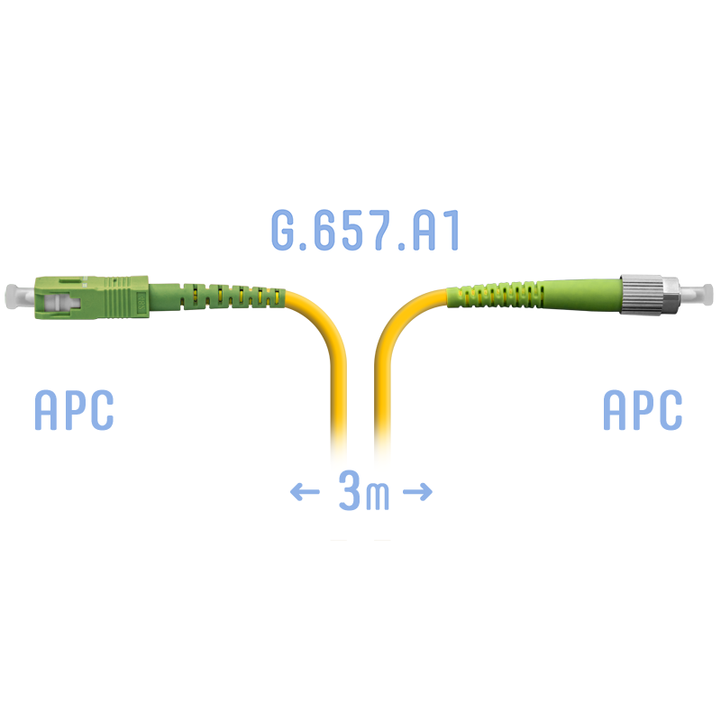 Патчкорд оптический FC/APC-SC/APC SM G.657.A1 3 метра