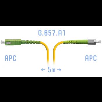 Патчкорд оптический FC/APC-SC/APC SM G.657.A1 5 метров
