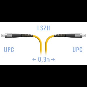 Патчкорд оптический FC/UPC SM  0,3 метра
