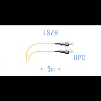 Шнур монтажный оптический FC/UPC SM G.657.A1 3 метра