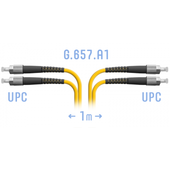 Патчкорд оптический FC/UPC SM G.657.A1 Duplex 1 метр