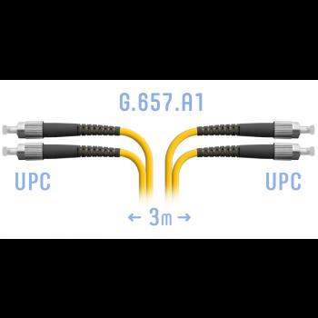 Патчкорд оптический FC/UPC SM G.657.A1 Duplex 3 метра