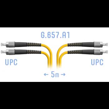 Патчкорд оптический FC/UPC SM G.657.A1 Duplex 5 метров