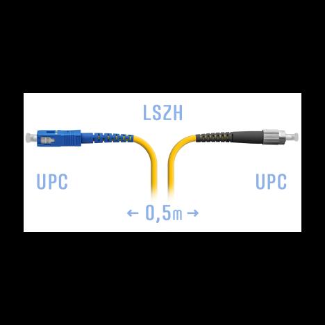 Патчкорд оптический FC/UPC-SC/UPC SM  0,5 метра