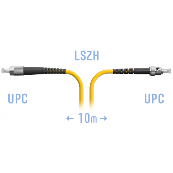 Патчкорд оптический FC/UPC-ST/UPC SM 10метров