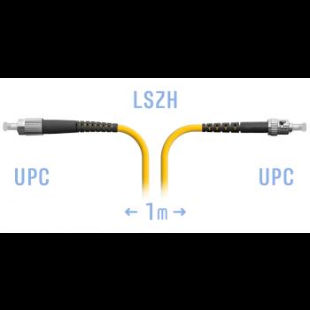 Патчкорд оптический FC/UPC-ST/UPC SM  1 метр