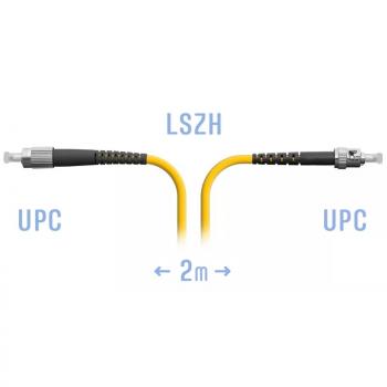 Патчкорд оптический FC/UPC-ST/UPC SM  2 метра