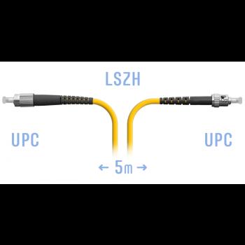 Патчкорд оптический FC/UPC-ST/UPC SM  5метров