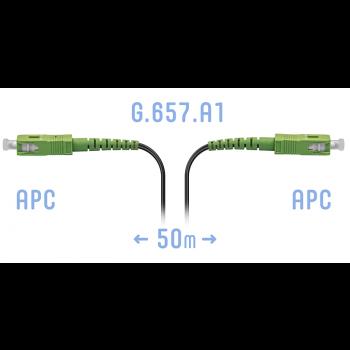 Патчкорд оптический FTTH SC/APC, кабель 604-02-01, 50 метров