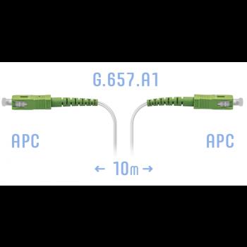 Патчкорд оптический FTTH SC/APC, кабель 604-02-01W, 10 метров